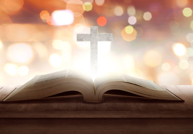 Christian Bookstore Book With Cross